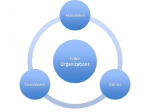 Association Lake Organizations Commission District Lake Associations Voluntary