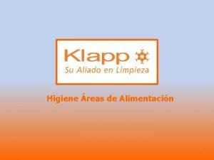 Higiene reas de Alimentacin 1 HIGIENE AREAS ALIMENTARIAS