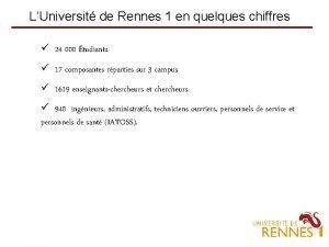 LUniversit de Rennes 1 en quelques chiffres 24