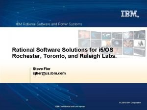 IBM Rational Software and Power Systems Rational Software