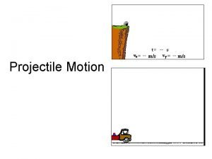 Projectile Motion A Projectile What is a projectile