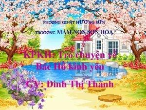PHONG GDT HNG SN TRNG MM NON SN