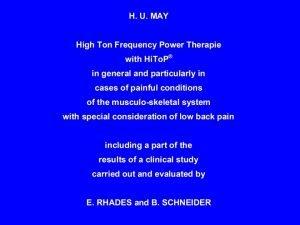 Authors Dr med HansUlrich May Facharzt fr Neurologie