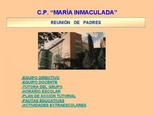C P MARA INMACULADA REUNIN DE PADRES EQUIPO
