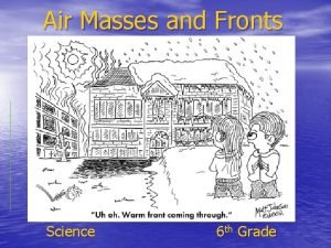 Air Masses and Fronts Science 6 th Grade