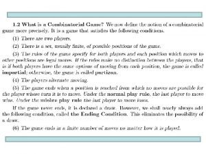 Game example and analysis Game rules Three piles