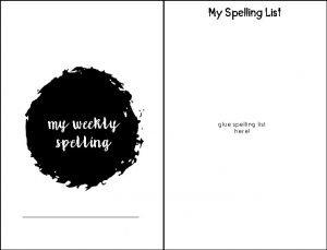 My Spelling List my weekly spelling glue spelling