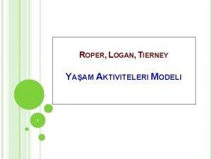 ROPER LOGAN TIERNEY YAAM AKTIVITELERI MODELI 1 Yaam