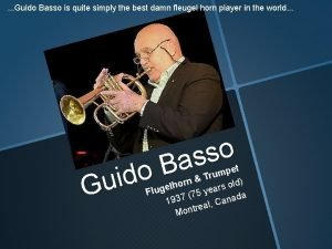 Guido Basso is quite simply the best damn