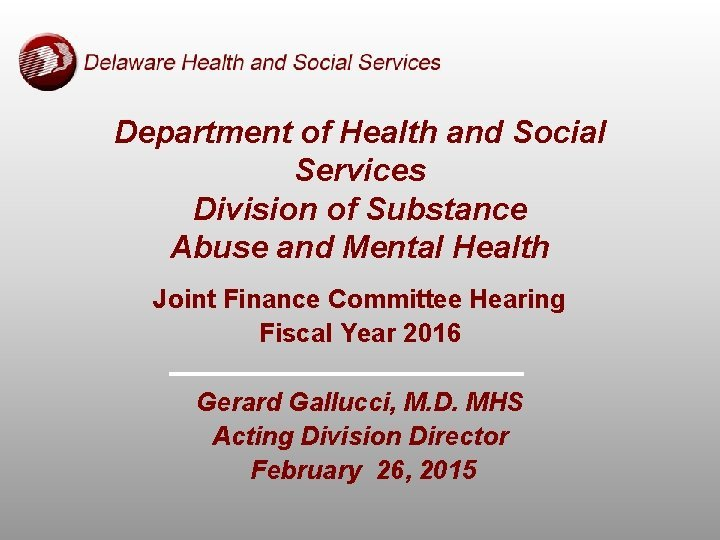 Department of Health and Social Services Division of