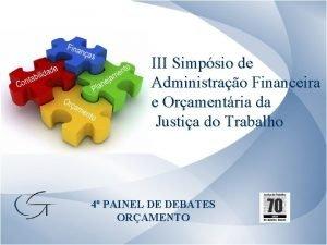 III Simpsio de Administrao Financeira e Oramentria da