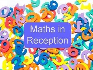 Maths in Reception The Maths Curriculum Mathematics is