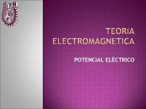 POTENCIAL ELCTRICO ENERGA POTENCIAL http video google comvideoplay