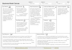 Designed by Designed for Business Model Canvas Key