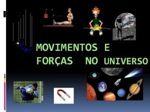 MOVIMENTOS E FORAS NO UNIVERSO Movimentos TRAJECTRIA linha