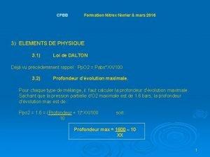 CPBB Formation Nitrox fvrier mars 2016 3 ELEMENTS