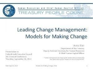 Leading Change Management Models for Making Change Anita