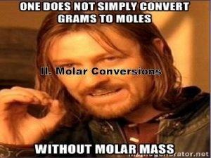 II Molar Conversions A Molar Mass Find the