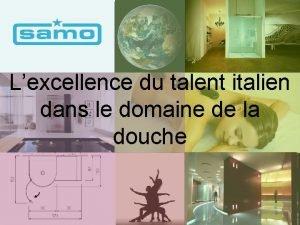 Lexcellence du talent italien dans le domaine de