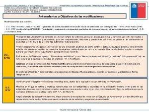 ACCESIBILIDAD UNIVERSAL Y DISCAPACIDAD MINISTERIO DE DESARROLLO SOCIAL