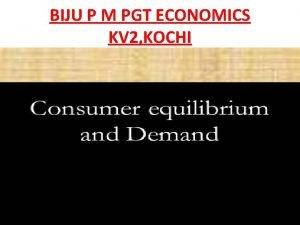 BIJU P M PGT ECONOMICS KV 2 KOCHI