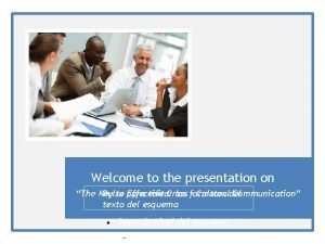 Welcome to the presentation on The Key Pulse