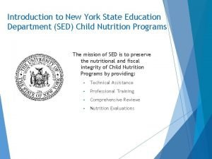 Introduction to New York State Education Department SED