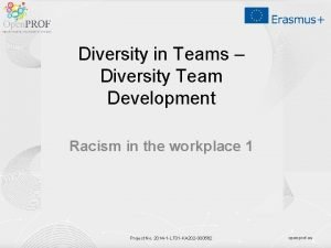 Diversity in Teams Diversity Team Development Racism in