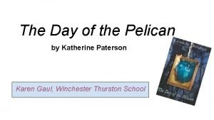 The Day of the Pelican by Katherine Paterson
