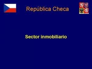 Repblica Checa Sector inmobiliario Temas Informacin general Evolucin