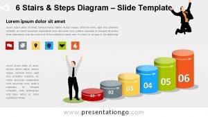 6 Stairs Steps Diagram Slide Template Lorem ipsum