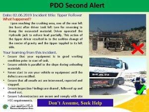 PDO Second Alert Date 02 06 2019 Incident