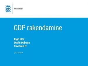 GDP rakendamine Inge Me Maris Dubova Ravimiamet 02