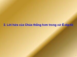 2 Li ha ca Cha thng hn trong