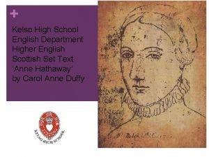 Kelso High School English Department Higher English Scottish
