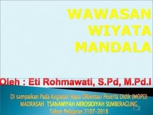 WAWASAN WIYATA MANDALA Oleh Eti Rohmawati S Pd