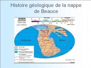 Histoire gologique de la nappe de Beauce Histoire