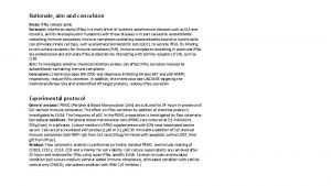 Rationale aim and conculsion Assay IFNa release assay