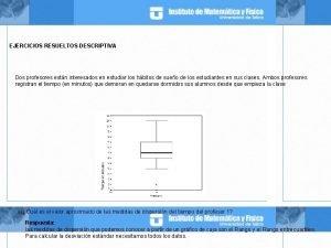 EJERCICIOS RESUELTOS DESCRIPTIVA Dos profesores estn interesados en