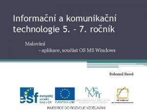 Informan a komunikan technologie 5 7 ronk Malovn
