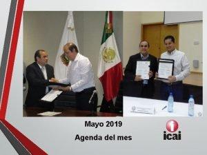 Mayo 2019 Agenda del mes Actividades del mes