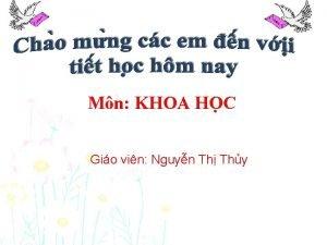 Mn KHOA HO C Gio vin Nguyn Th
