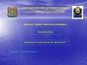 UNIVERSIDAD NACIONAL AUTONOMA DE MXICO ESCUELA NACIONAL DE