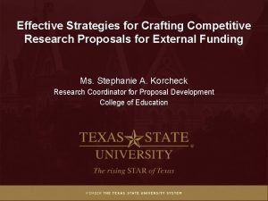 Effective Strategies for Crafting Competitive Research Proposals for