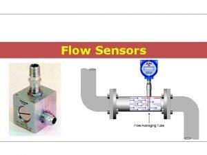 Flow Sensors Reasons for Flow Metering Plant control