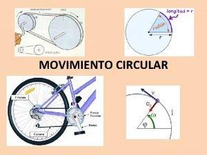 MOVIMIENTO CIRCULAR ALGUNAS MAGNITUDES DEL MOVIMIENTO CIRCULAR EL