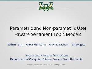 Parametric and Nonparametric User aware Sentiment Topic Models