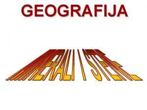 GEOGRAFIJA pripremila profesor geografije Milka Ivi MINERALI Minerali