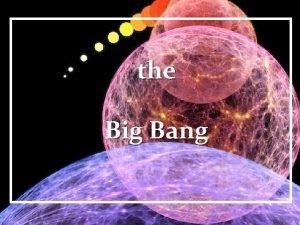 the Big Bang Friedmann Lemaitre Cosmic Expansion History