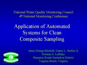 National Water Quality Monitoring Council 4 th National